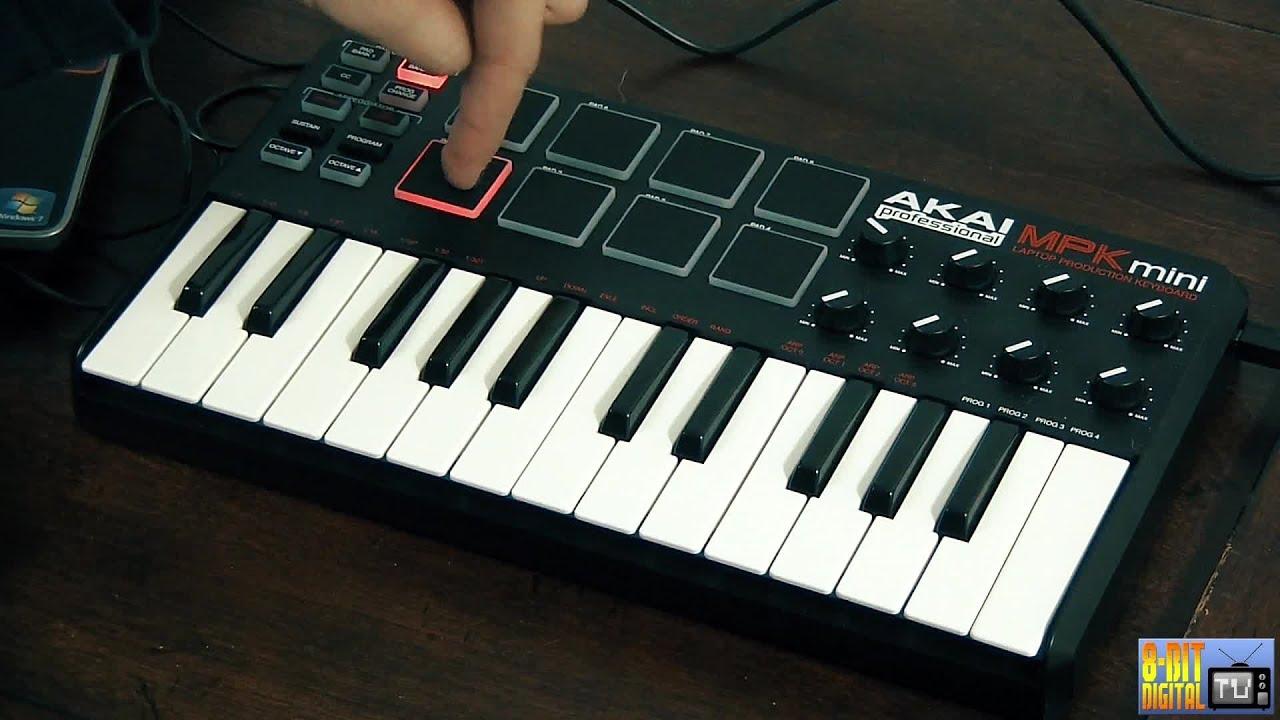 Akai MPK Mini MIDI Controller Overview [SWAT] - YouTube