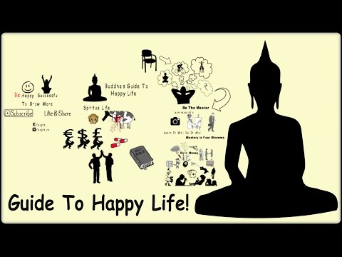 How To Live Happy Life | Buddha's Guide To Happy Life | Animated Version