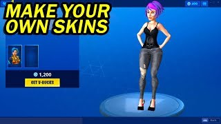 how to make your own skin in fortnite (SKIN CREATOR)