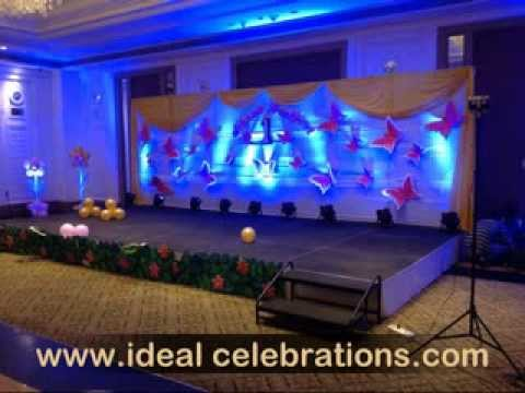 Birthday stage Decorations hyderabad Secunderabad YouTube