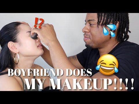 【爆笑】外国人彼氏にメイクをしてもらった結果😂😮 Boyfriend Does Japanese Girlfriend's Makeup 😂