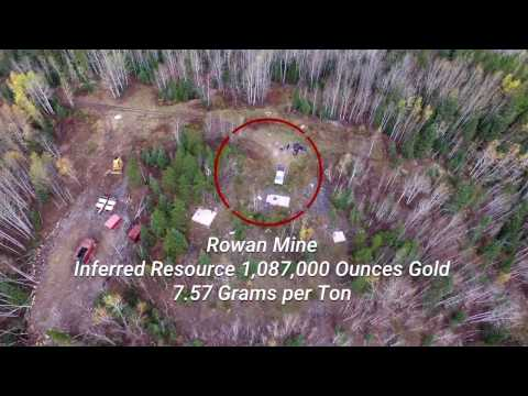 West Red Lake Gold Mines - Drone Site Visit Video 2017