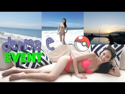 (English Subs) ❤️ Elaine Hau - Vlog: Derma E Event in Malibu #zeninthebu 🌊 Pokemon Go FAILED 🔴