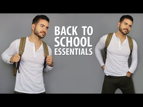 10 Back To School Essentials for High School & College | Men's Fashion | Alex Costa