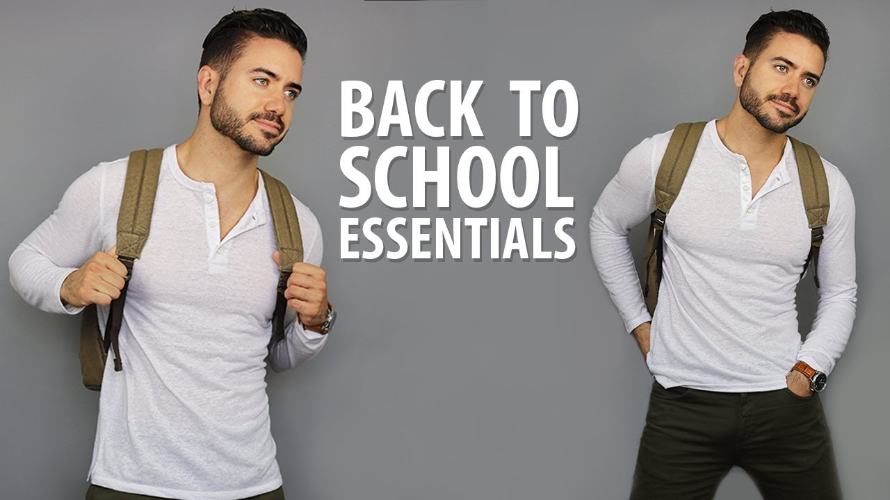 10 Back To School Essentials for High School & College | Men's Fashion | Alex Costa 1