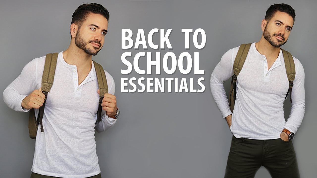 10 Back To School Essentials for High School & College | Men's Fashion | Alex Costa 2