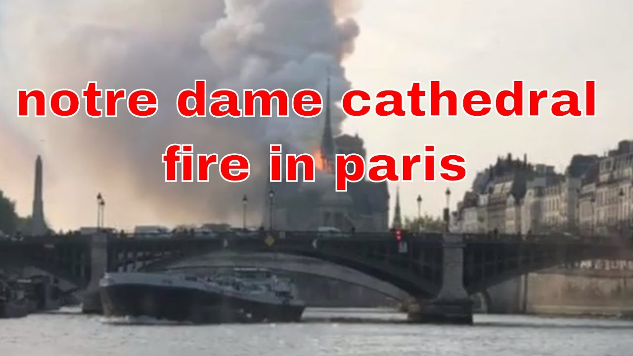 Notre Dame cathedral fire in paris