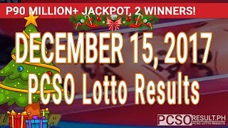 PCSO Lotto Results Today December 15, 2017 (6/58, 6/45, 4D, Swertres, STL & EZ2)
