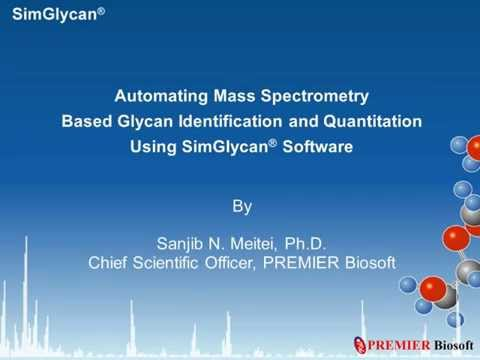 Automating mass spectrometry based glycan identification and quantitation using SimGlycan software