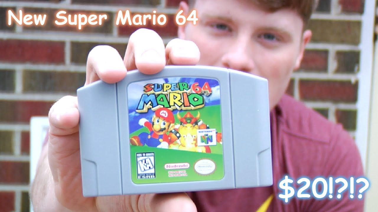 I Bought A Brand New Super Mario 64 Game On Ebay For 20 Does It Work Youtube