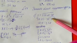 14 Алгебра 9 класс Укажите область определения функции заданной формулой