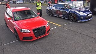 Audi RS3 Sportback vs Nissan GT-R - DRAG RACE!