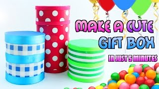DIY Crafts: How to Make a Cute and Simple Card-stock/Cardboard Gift Box