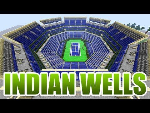 Indian Wells Tennis Garden in Minecraft + Download link