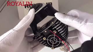 ROYALIN Bi-LED Headlights Projector for Universal H1 H4 H7 HB3 HB4 Headlamp Retrofit Lights Lens Video