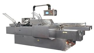 automated chocolate bar packaging machines box packer cheese cartonging equipment with gluer
