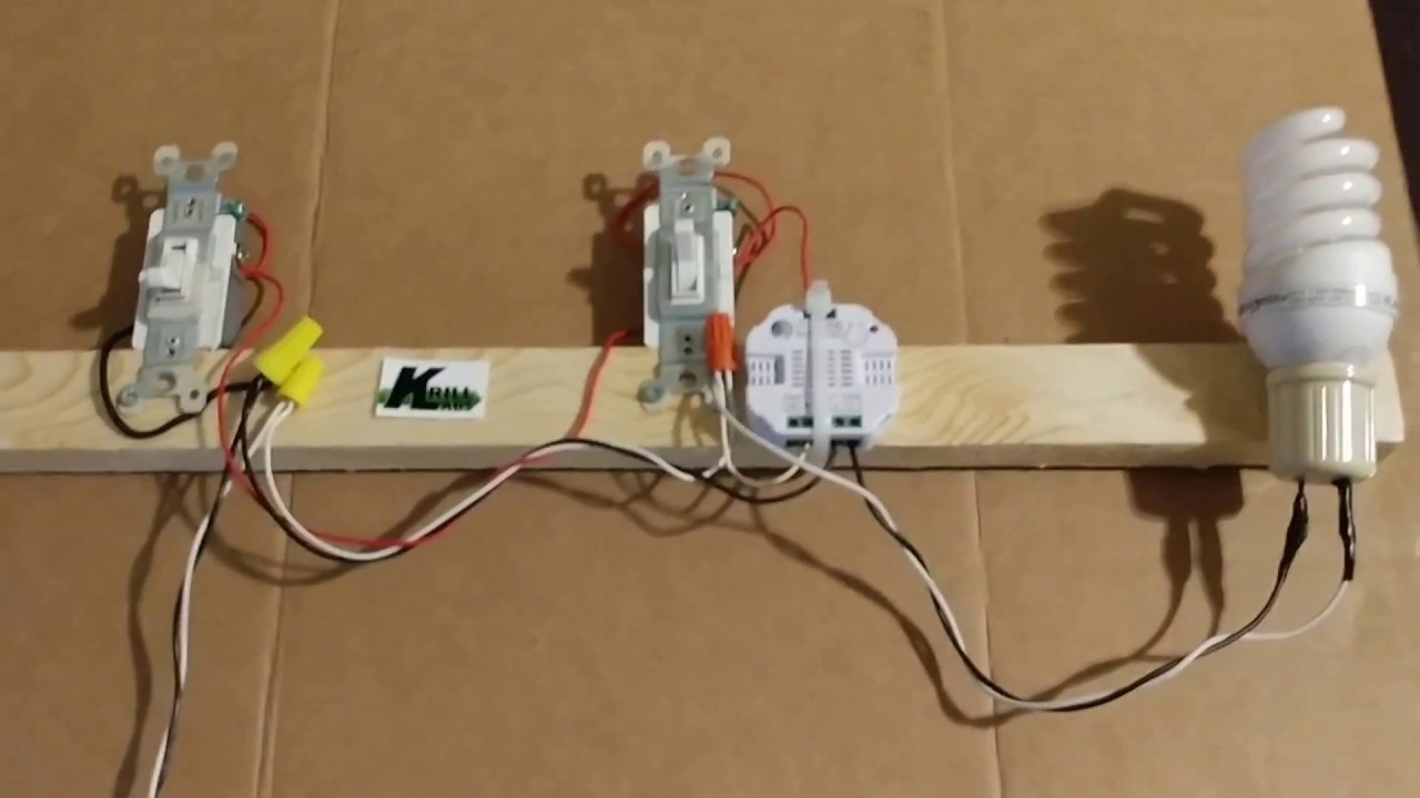 small resolution of z wave smart micro switch on a 3 way light circuit youtubez wave smart micro switch