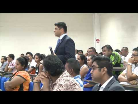 Fijian Minister holds 2017-2018 Budget Consultations at FNU Nasinu Campus.