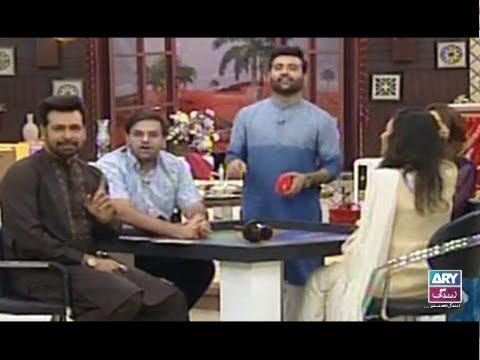 "Faysal Qureshi,Fiza Shoaib,Sharmeen Ali,Aadi & Faizan playing ""Truth or Dare"""