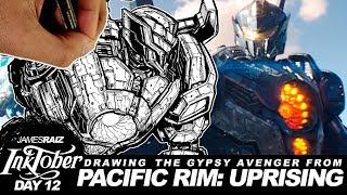 DRAWING PACIFIC RIM: UPRISING - GYPSY AVENGER - INKTOBER DAY 12