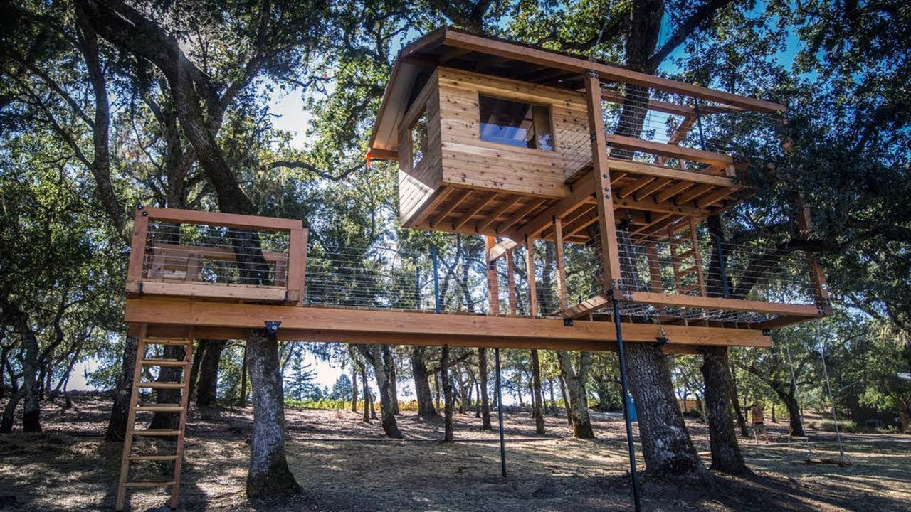 Completely Free Tree House Plans Youtube