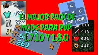   El Mejor Pack De Mods De PvP Para 1.8   Instalacion  