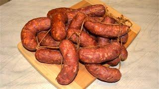 Домашние полукопчёные колбаски с сыром Бомбический вкус