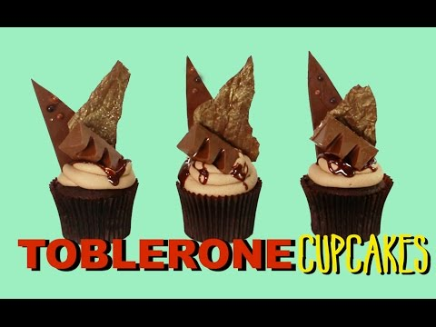 TOBLERONE Chocolate Cupcake Recipe | Candy Bar Inspired Cupcakes