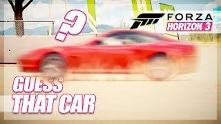 Forza Horizon 3 - Guess That Car! (Mini Games & Random Fun)