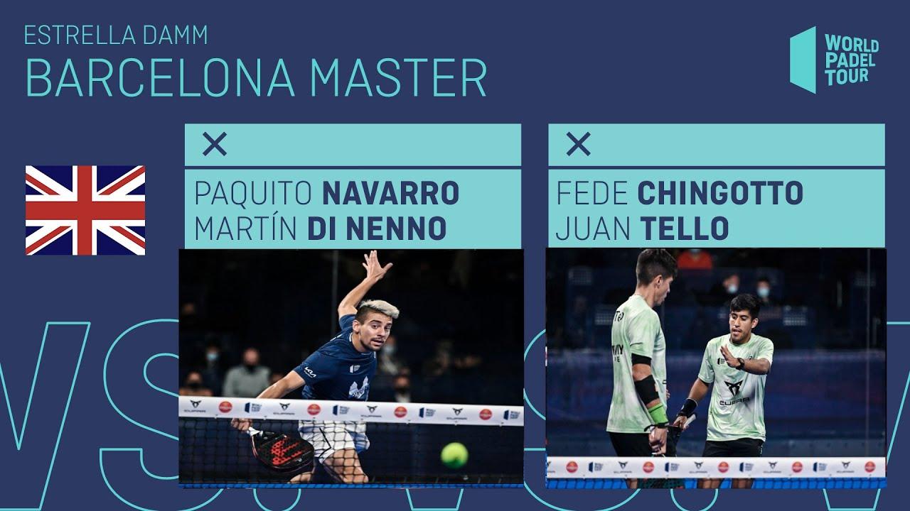 🇬🇧 Final Highlights English Paquito/Di Nenno Vs Chingotto/Tello Estrella Damm Barcelona Master 202