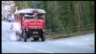 Steam Bus Tackles Steep Hill