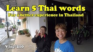 Learn 5 Thai words for a better travel experience in Thailand