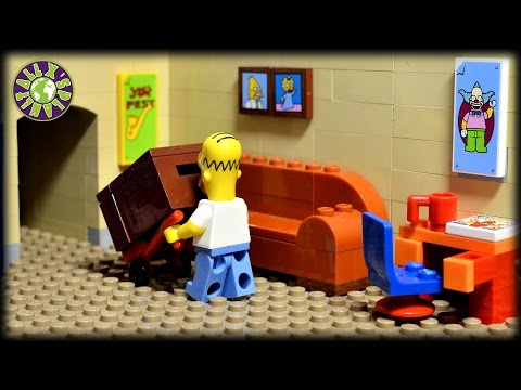 Lego Simpsons Christmas.  How to catch Santa Claus.