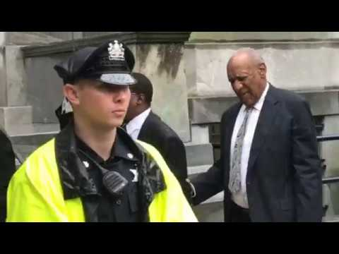 Bill Cosby leaves courthouse after mistrial