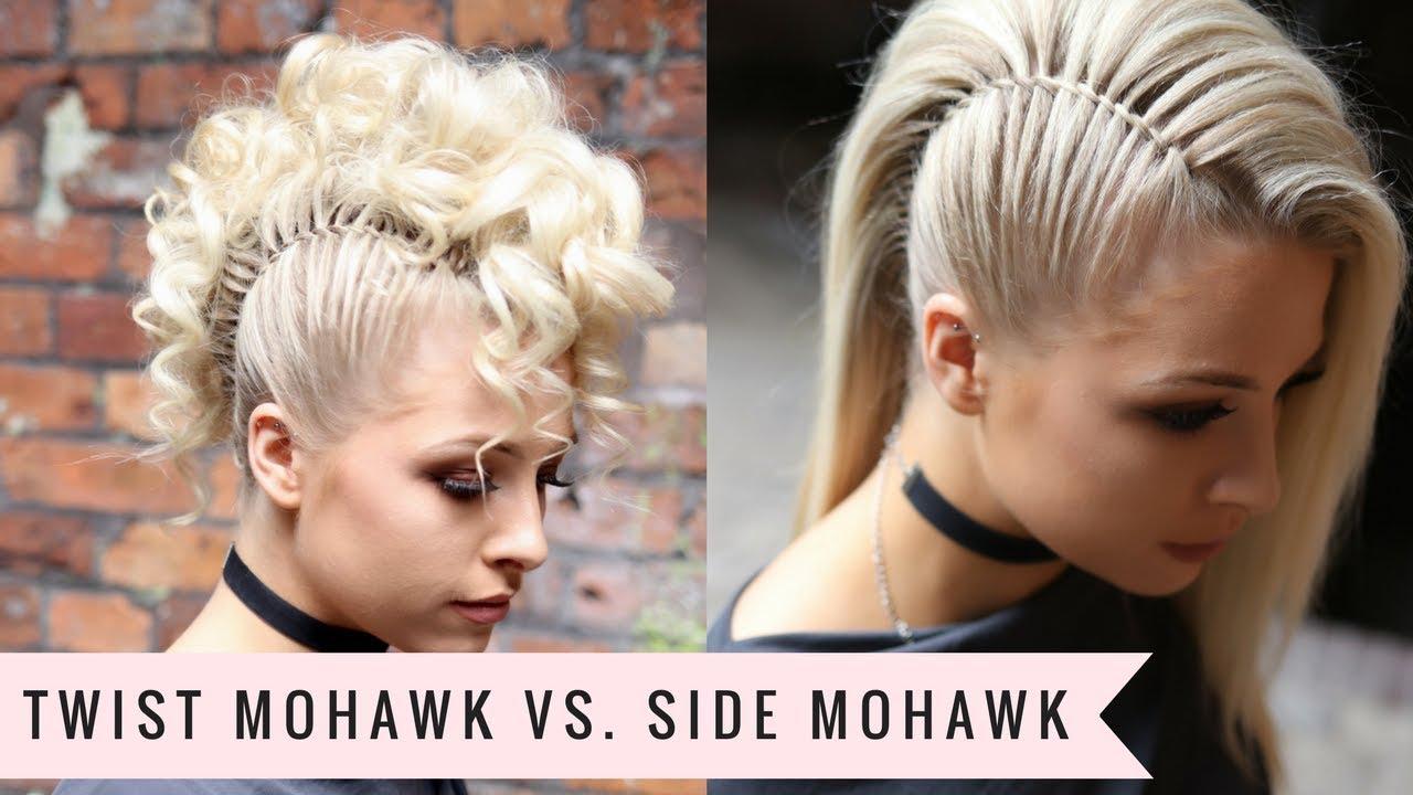 Twist Mohawk Vs Side Mohawk By Sweethearts Hair Youtube