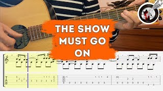 The show must go on на гитаре | Урок на стаккато