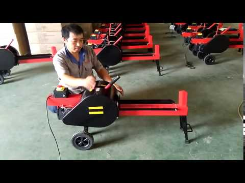 7T 8T Mechanical Electric Log Splitter Operate Video_China Qingdao Gemlongmachine Co.,ltd