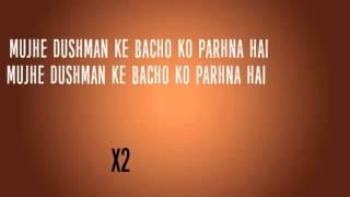 Mujhe Dushman ke Bachon ko Parhana Hai Lyrics ISPR Song