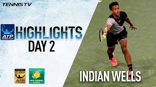 Highlights: Monfils, Auger-Aliassime Win Indian Wells Openers