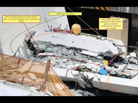FIU bridge collapse Misplaced Post tension ducts contributed to failure
