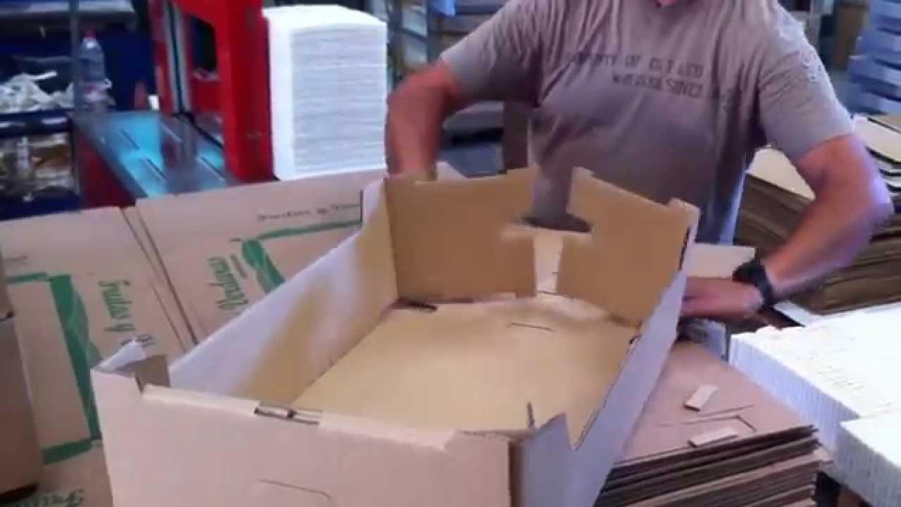 cajas para frutas y verduras video de como se monta este tipo de cajas