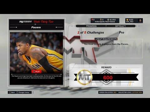 NBA 2K17 MyTEAM WEEK 32 PACERS CHALLENGE #2