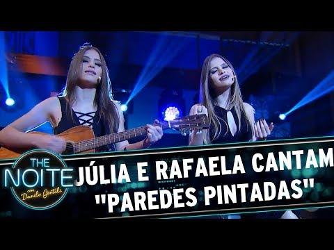 "Júlia e Rafaela cantam ""Paredes Pintadas""  The Noite 280717"