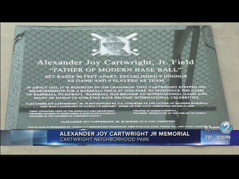 Honolulu honors father of modern baseball Alexander Joy Cartwright