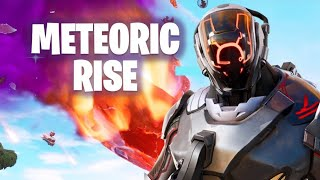 FORTNITE DOING MY METEORIC RISE CHALLENGES / GETTING TO LEVEL 90 / ROAD TOO 1.3K SUBS