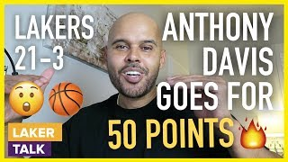 Download Anthony Davis Scores 50 Points in Lakers Win Over Timberwolves, LeBron w/ 32pts, 13ast Mp3 and Videos