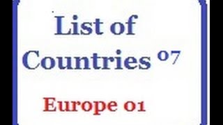 List of Countries 07