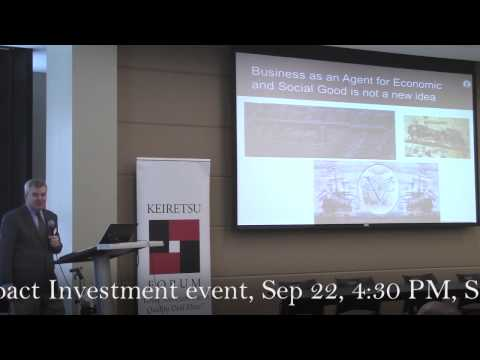 Joseph Williams, SPU Business School | Keiretsu Impact Investment Forum, Seattle