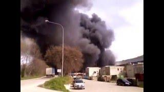 Incendio presso la ditta ITALPANNELLI S.r.l. di Ancarano
