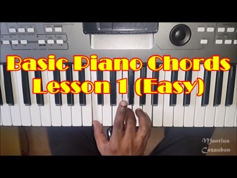 Basic Piano Chords For Beginners Lesson 1 How To Play Easy Piano